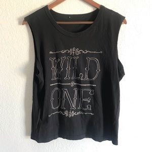 Wild one muscle tank